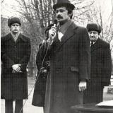 Виступ Д. Кремiня в День визволення мiста Миколаєва. 1984 рiк