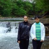 Лариса Матвеева с дочерью 2014 год Карпаты