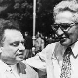 Марк Лисянский и Илья Френкель в Одессе. Май 1973 г.Фото из книги Б.Арова Чистые струны Марка Лисянского