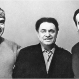 Верные друзья Эмиль Январев, Марк Лисянский, Борис Аров.Фото из книги Б.Арова Чистые струны Марка Лисянского