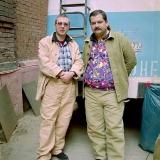 С Сергеем Лукьяненко на съемках «Дневного Дозора»